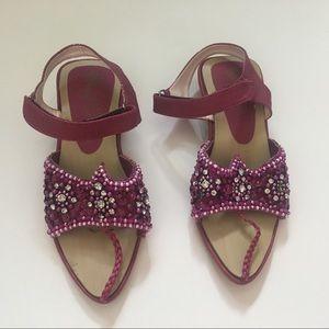 India Style Jeweled Toddler Girls Shoes Size 7/8